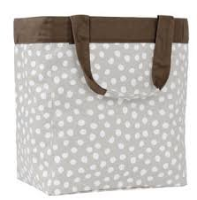 Thirty One Essential Storage Tote In Taupe Gingham front-337301