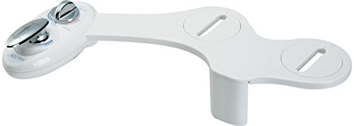 Luxe Bidet Neo 320 - Self Cleaning Dual Nozzle - Hot and Cold Water Non-Electric Mechanical Bidet Toilet Attachment (white and white)