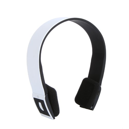 Bluetooth Stereo Headset With Microphone-In For Iphone 4/4S /Ipad 2 3 /Ps3 - Support Two Device At The Same Time (White)