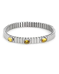 NOMINATION ITALY Made in Italy Attractive Three-stone Bracelet With 3.00ctw Cubic zirconia Well Made in Stainless steel. Total item weight 13.5g Length 7in