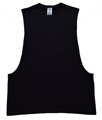 New Muscle Cut Workout T-Shirt Bodybuilding Tank Top Black XS-3XL