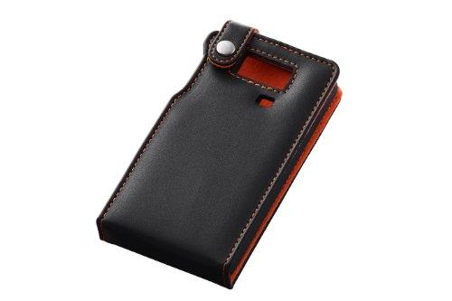レイ・アウト au AQUOS PHONE SERIE ISW16SH用 フラップタイプ・レザージャケット/ブラック RT-ISW16SHLC1/B