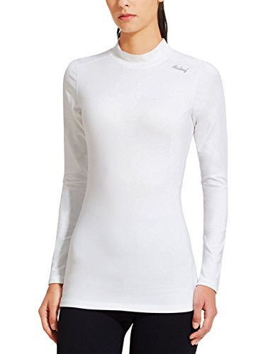 Baleaf Women's Fleece Thermal Active Running Shirt White Size M (Thermal Shirts Long Sleeve Women compare prices)