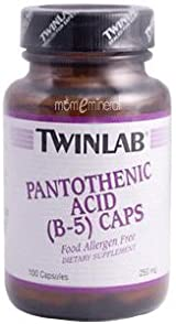 Pantothenic Acid (B-5) Capsules, 250 mg, 100 Capsules by Twinlab