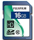 Fujifilm 16GB SDHC Class 10; 16384 MB; Secure Digital High-Capacity (SDHC); Blue (P10NM00570A)