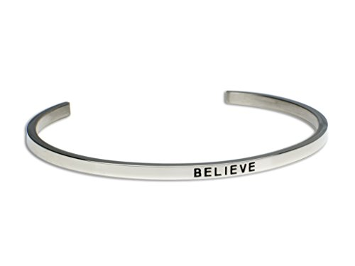 BELIEVE:Gift for Her, Perfect Gift, Mantra Bracelet, Inspirational gift,100% Guaranteed,Perfect Gift.