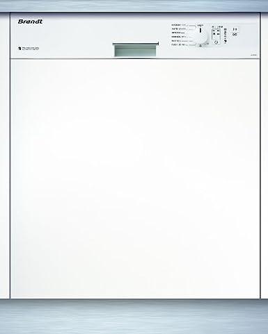 Brandt VH 1200 W lave-vaisselle - lave-vaisselles (Semi intégré, A, A+, Blanc, A, Delicate, Intensif, Rapide)
