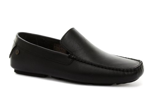 Cheap Base London Jenson Black Mens Slip On Shoes (B005NYSGJU)