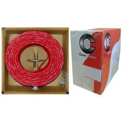 ElectroExperts Fire Alarm / Security Cable, Red, 16/2 (16 AWG 2 Conductor), Solid, FPLR, Spool, 1000 foot