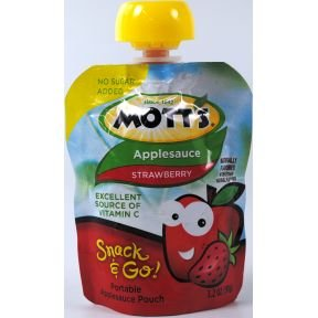 Motts Applesauce Snack &#038; Go Pouch Strawberry (3.2 Oz; 14 Pack)