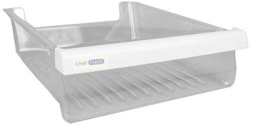 LG Electronics 3391JA2055A Refrigerator Meat Drawer/Tray, Clear with White Trim