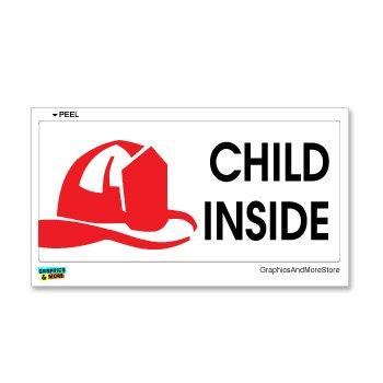 Child Inside - Home Firefighter Fireman Alert - Window Bumper Sticker