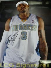 Signed Iverson, Allen (Denver Nuggets) 11x14 Photo autographed by Powers+Collectibles