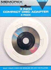 Memorex 3-Inch CD/DVD Adapter 3-Pak