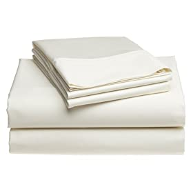 Pike Street 1,000-Thread-Count Egyptian Cotton Queen Sheet Set, Ivory