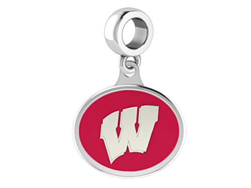 Wisconsin Badgers Drop Charm Fits All European Style Beaded Charm Bracelets