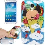Ice-cream Pattern Shimmering Powder TPU Protective Case for Samsung Galaxy S IV / i9500
