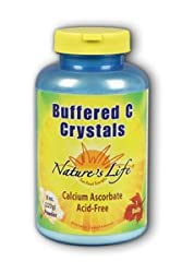 Vitamin C Buffered C-Crystals Nature's Life 8 oz Powder