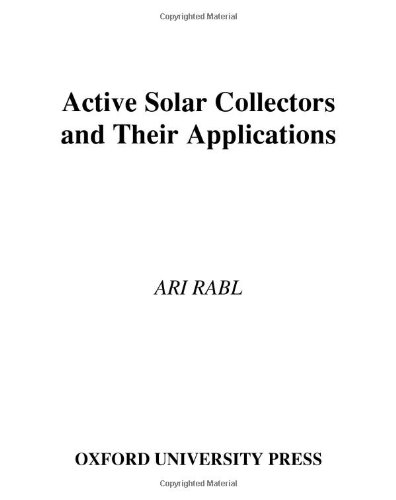 Active Solar Collectors and Their Applications