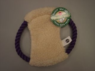 """Spot Vermont Style Chew Fleece Disc Dog Toy with Squeaker 10"""""""