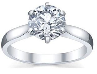 Classic-Sterling-Silver-Solitaire-Engagement-Ring-1-Ct-Cubic-Zirconium-Diamond-White-Cz-Stone-6-Prong-Setting-Knife-Edge-Shank-Low-Setting-Gift-Box-Included-