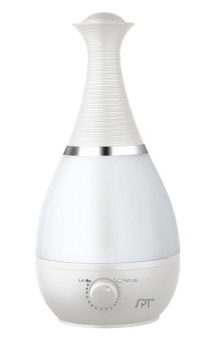 SPT SU-2550W Ultrasonic Humidifier with Fragrance Diffuser, White
