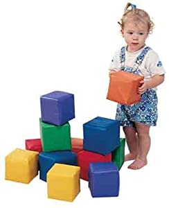 Childrens Factory Children's Factory Pastel Toddler Baby Blocks - Set of 12, Multicolor, Foam