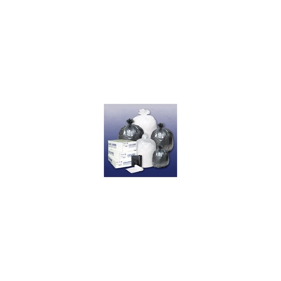 CLEAR CAN LINER / GARBAGE BAGS 24X24 7 TO 10 GALLON CAPACITY 20/50