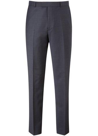 Austin Reed Contemporary Fit Navy Pindot Trouser REGULAR MENS 30
