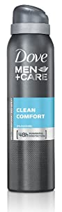 Dove Men+Care Deo Spray Clean Comfort Powerful Protection, 6er Pack (6 x 150 ml)