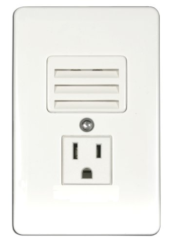 American Lighting Rnls-3 In-Wall Outlet/Led Night Light Combo, Slotted Lights