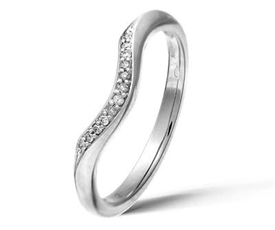 Ariel 9ct White Gold Diamond Wishbone Eternity Ring
