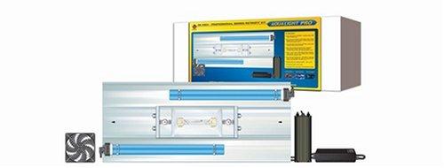 Coralife 36 Inch Aqualight Pro Retrofit Kit, 1X150W Hqi Lamp + 2X65W Cf Lamps Sq. Pin + 2X1W Led