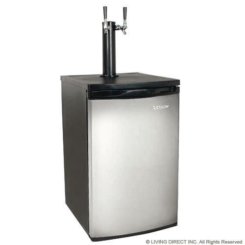 Purchase EdgeStar Full Size Stainless Steel Dual Tap Kegerator & Draft Beer Dispenser - Stainless St...