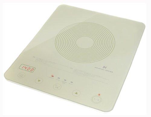 【Amazonの商品情報へ】DRETEC 【汚れもサッとひと拭きできるフラットガラスタイプ】 フラットIH調理器 ホワイト DI-106WT2