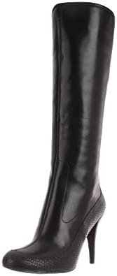 Rockport Women's Presia Tall Boot,Black Amaze Stretch,8 M US