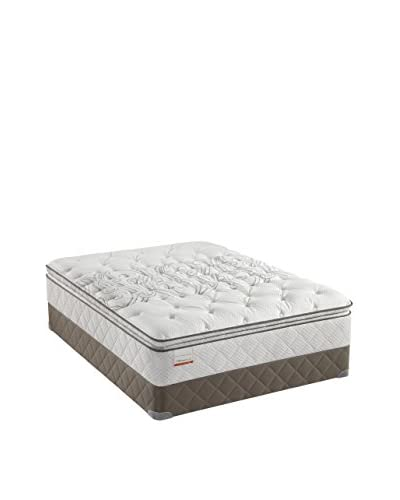 Sealy Posturpedic Gel Series Meadow Lea Firm Cushion Euro Pillow Top Mattress Set