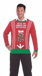 Funny Christmas Mug -Ugly Christmas Sweater Christmas Costume Choose Your Style (Medium, Kiss Me Under The Mistletoe)