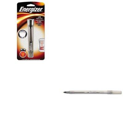 Kitbicgsm11Bkeveenml2Aas - Value Kit - Energizer Metal Led Light (Eveenml2Aas) And Bic Round Stic Ballpoint Stick Pen (Bicgsm11Bk)