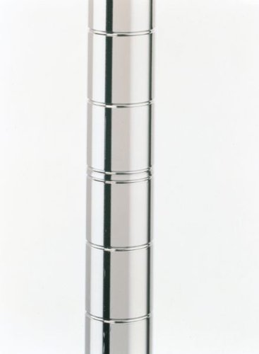 "Metro 33P Metro Site Select Chrome Plated Steel Stationary Post, 1"" Diameter x 34-1/2"" Height (Pack of 4)"