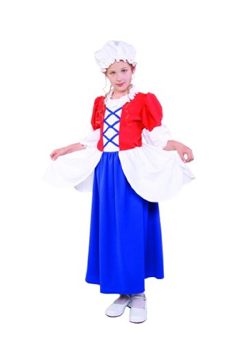 Child's Betsy Ross Costume Size Medium (8-10)