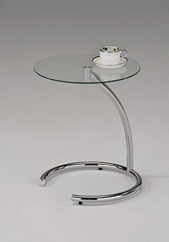 Kings Brand Chrome With Glass Modern Accent Side End Table (Accent Tables Hallway compare prices)