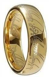 LORD OF THE RINGS COMFORT FIT WEDDING ENGAGEMENT