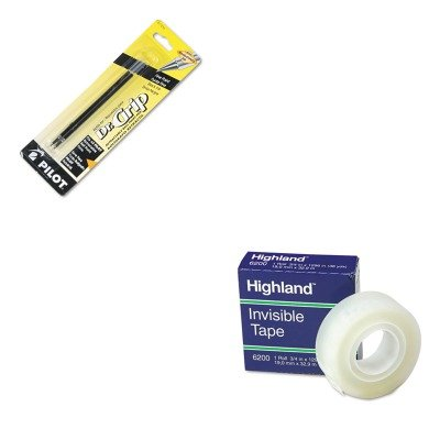 KITMMM6200341296PIL77210 - Value Kit - Pilot Refill (PIL77210) and Highland Invisible Permanent Mending Tape (MMM6200341296) kitaapbr102gycox01761ea value kit best hospitality base cabinet aapbr102gy and clorox disinfecting wipes cox01761ea