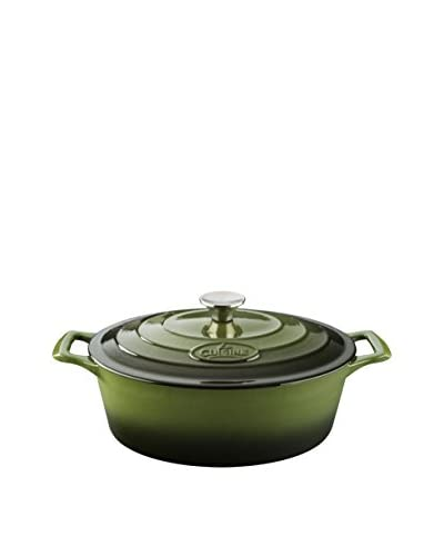 La Cuisine Traditional Olive Green 6.75-Qt. Oval Casserole