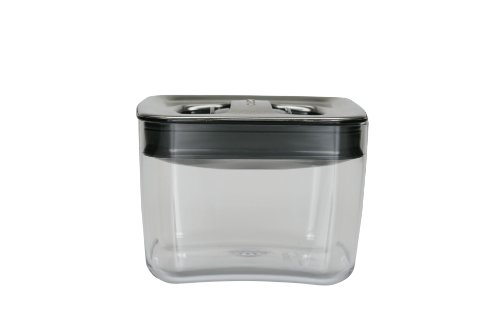 Click Clack Cube 1-Quart Storage Container with Stainless Steel Lid (Click Clack Stainless Steel compare prices)