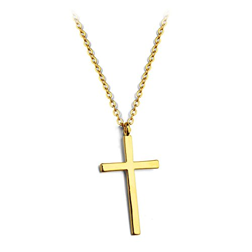 Simple Smooth Cross Pendant Necklace Fashion Jewelry 18
