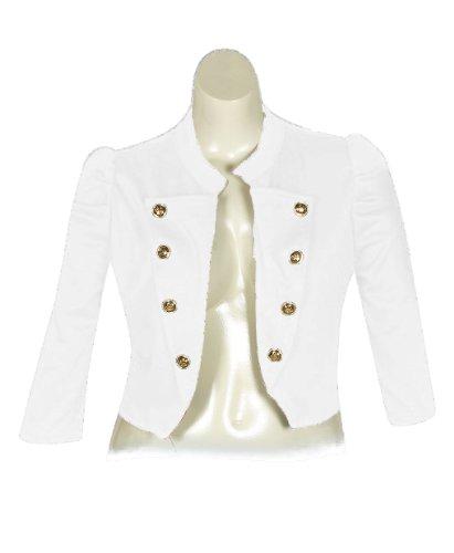 Плюс Размер Белый Нахальный Куртка