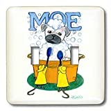 31eN1VsnThL. SL160  Laura J Holman Art Moe the Pug   Pug pug in tub bath dog bathing Pug dog bath mice cleaning washing dog washing dog   Light Switch Covers   double toggle switch
