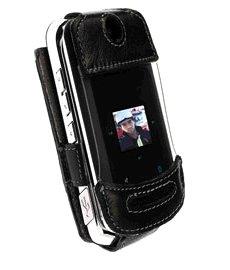 Housse Elastic pour Motorola W755 Noir/Gris